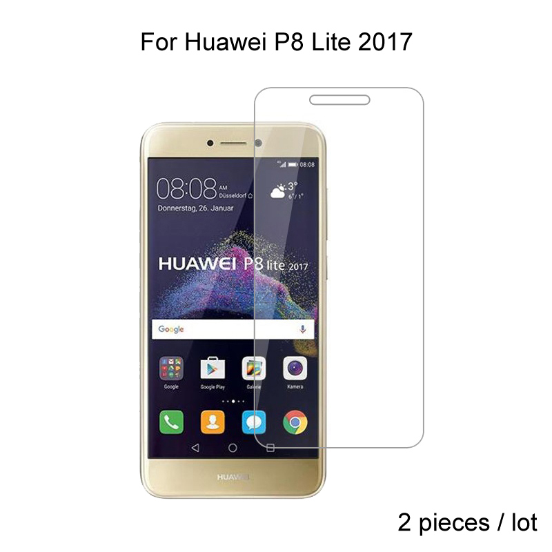 2pcs For Huawei P8 Lite 2017 5.2 Inch Premium 2.5D Tempered Glass Screen Protector For Huawei P8 Lite 2017 Protective Glass