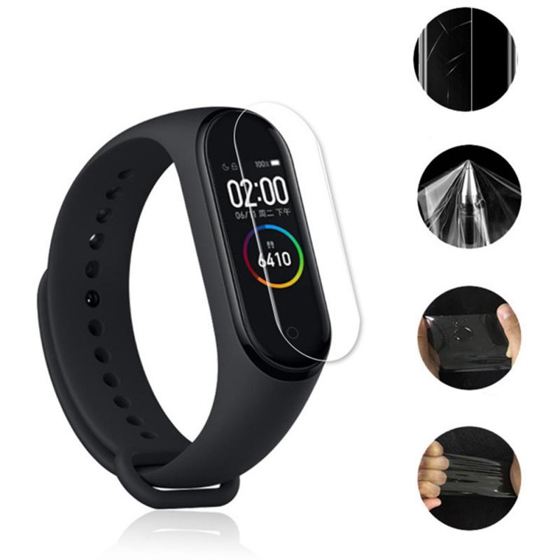 5Pcs Protective Film For Xiaomi Mi Band 4 Protective Film Smart Wristband Full Screen Protector Hydrogel Film Not Tempered Glass