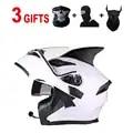 Capacetes da motocicleta flip up rosto cheio capacete universal homem womanskeleton adesivos lente dupla quatro estações capacete de segurança