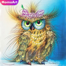 MomoArt Diamond Painting Owl Mosaic Full Drill Square Embroidery Animal Gift Home Decoration