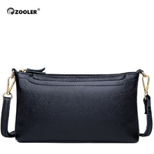 ZOOLER Designer Genuine Leather Bags Small Luxury Cow Crossbody Bag for Women Famous Brand Women Messenger Bags  Black Fashion
