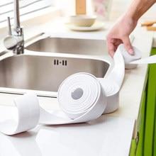 3.2 metros pia do banheiro banho de vedação tira molde prova fita pvc auto adesivo à prova dwaterproof água adesivo gesso para cozinha