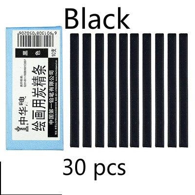 Черный уголь, брусок коричневый темно-серые растворимые в воде черный угольный карандаш дизайн Тип карандаш для рисования скетчей Рисование набросков расходные материалы - Характеристики: Black  3 boxes