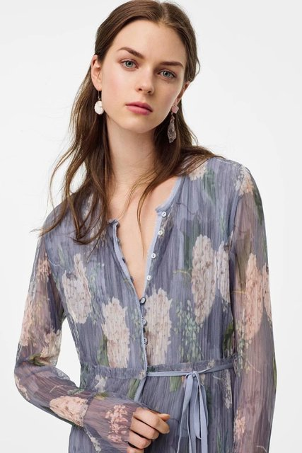 2020 Spring Summer New Grand Prix Print Pleated zaraing women Dress vadiming sheininig female Dress vintage plus size XDN9537 1