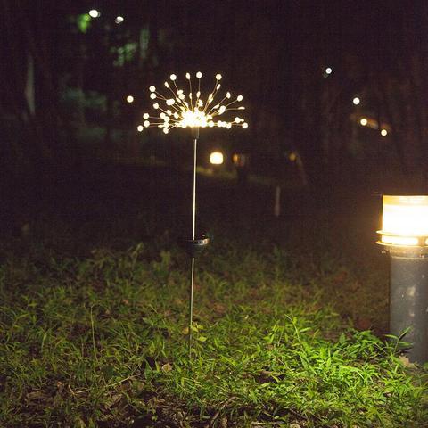 luz da corda firework luz solar festa de aniversario acessorios