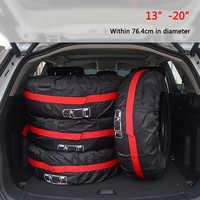 1 pc/4 Pcs pokrowiec na oponę zapasową samochodu poliester Auto opony do kół torby do przechowywania akcesoria do opon samochodowych pyłoszczelna Protector