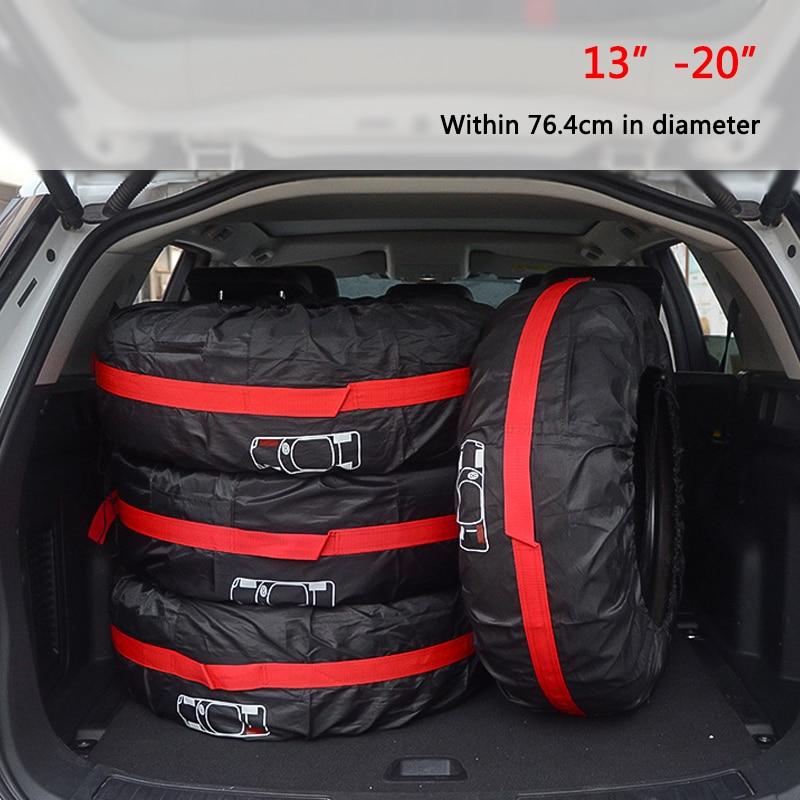 1 pièce/4 pièces housse de rechange pour pneus de voiture Polyester Auto roue pneus sacs de rangement accessoires pour pneus de véhicule protection anti-poussière