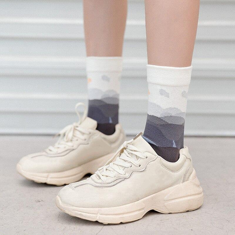 Jeseca Cartoon Animal Print Cute Socks 2019 Autumn Winter Sock For Women Streetwear Japanese Kawaii Girls Lovely Christmas Sock