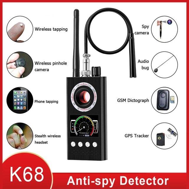 Anti Spy Wireless RF Signal Detector Bug GSM GPS Tracker Hidden Camera Eavesdropping Device Military Professional K68 VS K88 K18 1