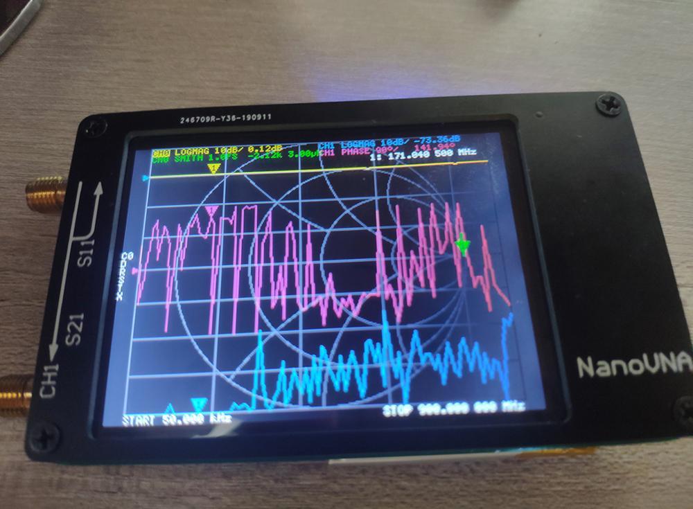 Подлинный оригинальный NanoVNA векторный сетевой анализатор антенна анализатор коротковолновый MF HF VHF UHF Genius