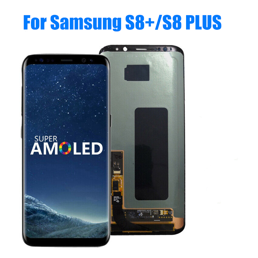 Original S8plus Display For SAMSUNG Galaxy S8 PLUS Screen Replacement LCD Touch Digitizer Assembly G955 G955F With Green Spot