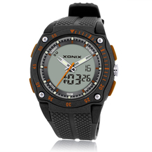 Nova marca sports chronograph relógios de pulso dos homens digital quartzo duplo movimento à prova dwaterproof água 100m mergulho relógio masculino dh