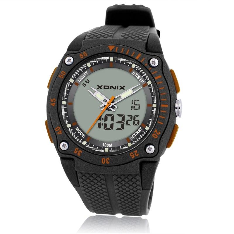 Relógios de Pulso dos Homens Movimento à Prova Nova Marca Sports Chronograph Digital Quartzo Duplo Dwaterproof Água 100 m Mergulho Relógio Masculino dh