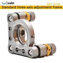 OST-K100 two-dimensional optical adjustable frame stainless steel three-axis precision frame tilt optical experimental lens