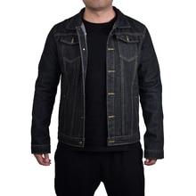Men Turn Down Collar Denim Short Coat Single Breasted Jean Coat Dark Blue Casual Teens Denim Jacket Long Sleeve Jeans Bomber D40 цена