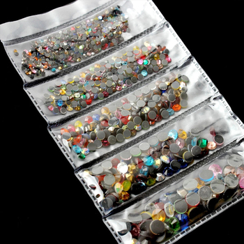 New packing 1200pcs Mix Size Hot Fix Rhinestone Shiny DMC Rhinestones Crystal SS6-SS30 for clothes DIY free shipping