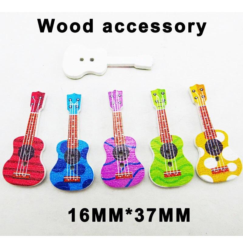 349 10 Pcs Guitar Wooden Button Scrapbooking Clothing Decorative Buttons art