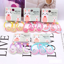 3 Pcs/set Mix Fruit Baby Hairband For Girls Cute Cartoon Animal Candy Colors Childern Hair Ropes Daily Life Accessories