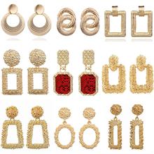 LATS 2020 Vintage Earrings Large for Women Statement Earrings Geometric Gold Metal Pendant Earrings Trend Fashion Jewelry cheap Zinc Alloy Hyperbole A001 Spring Summer Fall Winter gold Silver Color Women Mother Daughter Friends Lover