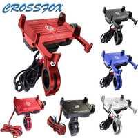 Soporte fijo para teléfono de bicicleta y motocicleta, manillar de aleación de aluminio con cargador de alimentación USB, 3,5-7 pulgadas