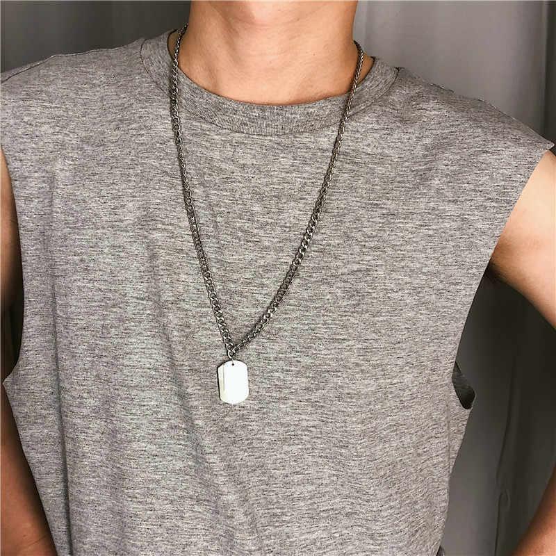 AOMU Mädchen Geschenk Metall Silber Kreuz Anhänger Halskette Für Frauen Hochzeit Schmuck Geometrische Rechteck Schlüsselbein Kette Halskette