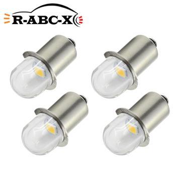 4pcs E10 P13.5S Socket 2835 Flood Bicycle LED Bulb 3V 6V 12V Replace Torch Headlight Headlamp Mini Head Lamp Flashlight Bulbs