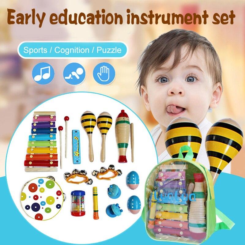 10 paquets enfants éducation précoce Instrument de musique ensemble maternelle Puzzle jouet bébé divertissement amusant étude musique cadeaux