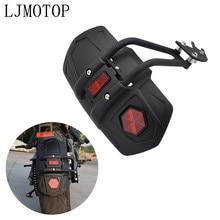 Roue arrière universelle pour moto, pour garde boue, couvercle de roue arrière, accessoires en plastique noir, acier au carbone