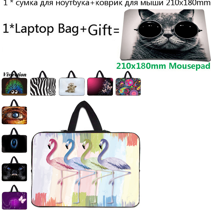 Universal 15 Inch <font><b>Funda</b></font> <font><b>Portatil</b></font> <font><b>15.6</b></font> Computer Bag 17 17.3 Laptop Case 14 13 13.3 12 11.6 10 Tablet Bag Handbag+21x18cm Mousepad image
