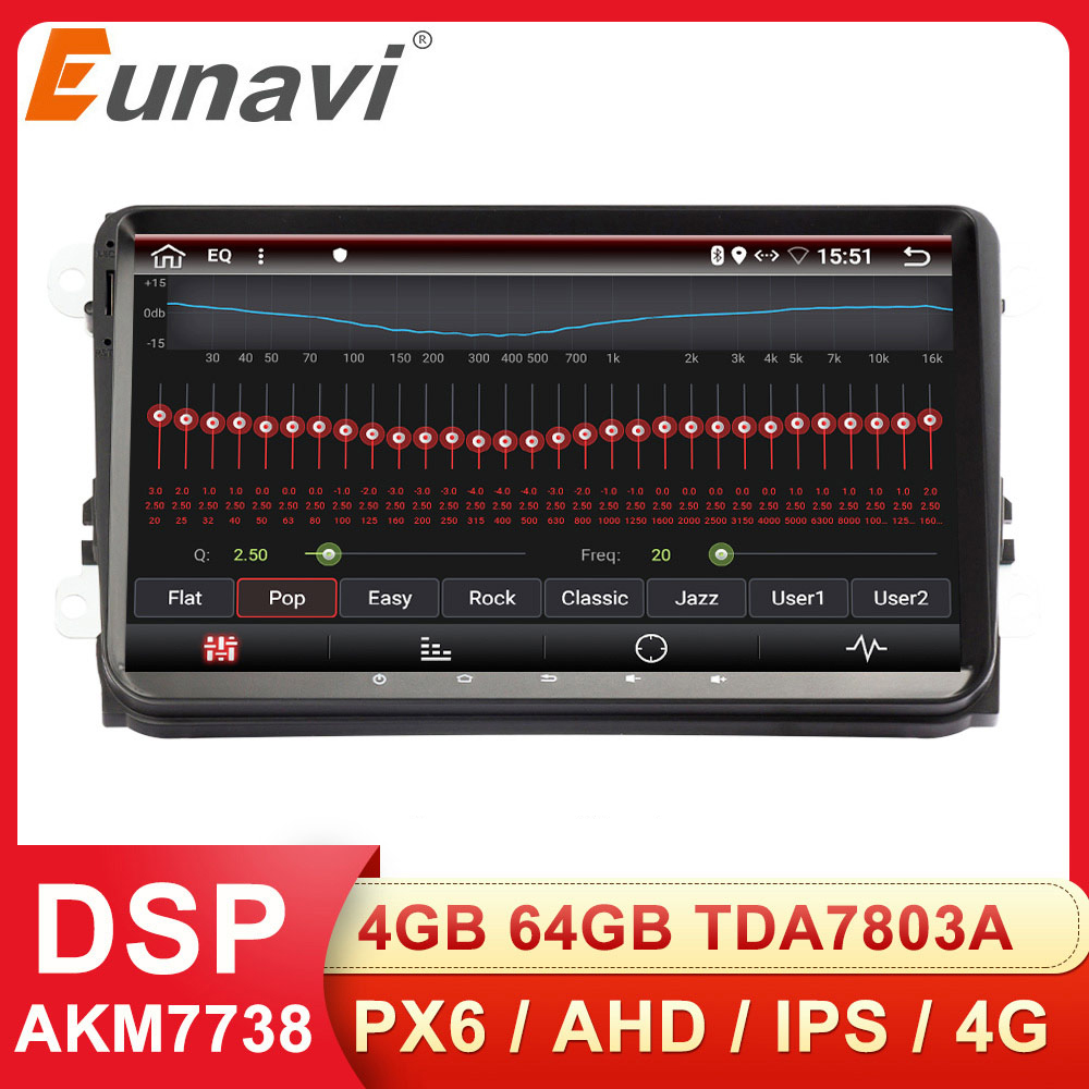 Eunavi 2 Din Car Radio Stereo multimeida for VW Passat B6 CC Polo GOLF 5 6 Touran Jetta Tiguan Magotan Seat Android GPS NO DVD(China)