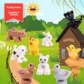 Игрушки большой Размеры Животные фермы серии большие строительные блоки Compatibel с Животные серия игрушек для детей вечерние подарок
