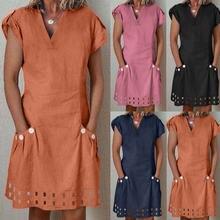 Женское повседневное мини платье feitong с v образным вырезом