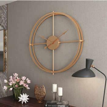 A doppia parete tubo quadrato orologio da parete in ferro 3D semplice retro design per la casa soggiorno ufficio di Arte della decorazione della parete orologio da parete