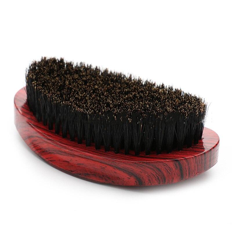 Escova de Barba Lidar com Homens Escova de Barbear Pente de Óleo Masculina Logs Curvo Cerdas Barba Escova G0224
