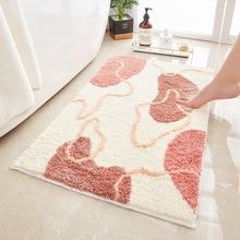 New Modern Beach Print Hallway Floor Carpet Absorbent Anti-Slip Bathroom Mat Toilet Bedroom Decor Comfortable Bath Rug Washable