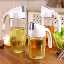 300/600/630ML Kitchen Glass Oil Bottle Dispenser Automatic Opening Closing Bottles For