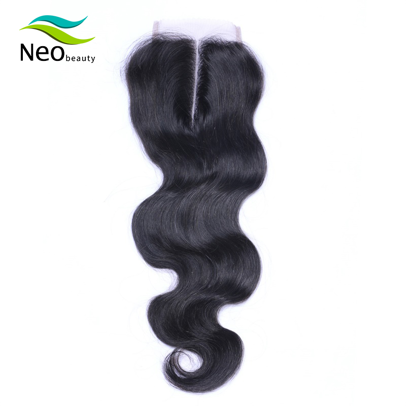 10A Brazilian Remy Human Hair Lace Closure French Lace Natural Color 4x4 Pre-plucked Lace Closure Can Be Dyed Middle Part