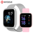 Смарт-часы Band T80 фитнес-трекер Браслет мониторинг сердечного ритма в реальном времени водонепроницаемые для Android iOS модные часы