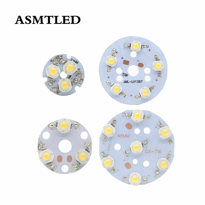 1 PCS LED קריס 1W שבב עם 3W 5W 7W לבן/לבן חם LED פולט דיודה להקת 23mm 30mm 48mm PCB עבור DIY לפיד פנס
