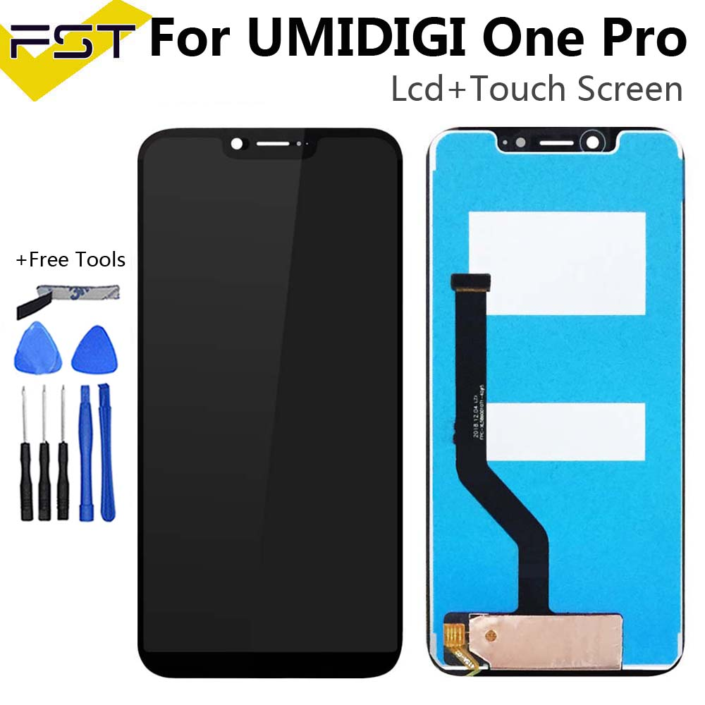 5.9''Black For UMI UMIDIGI One Pro LCD Display with Touch Screen Digitizer Assembly Repair Parts+Tools and Adhesive