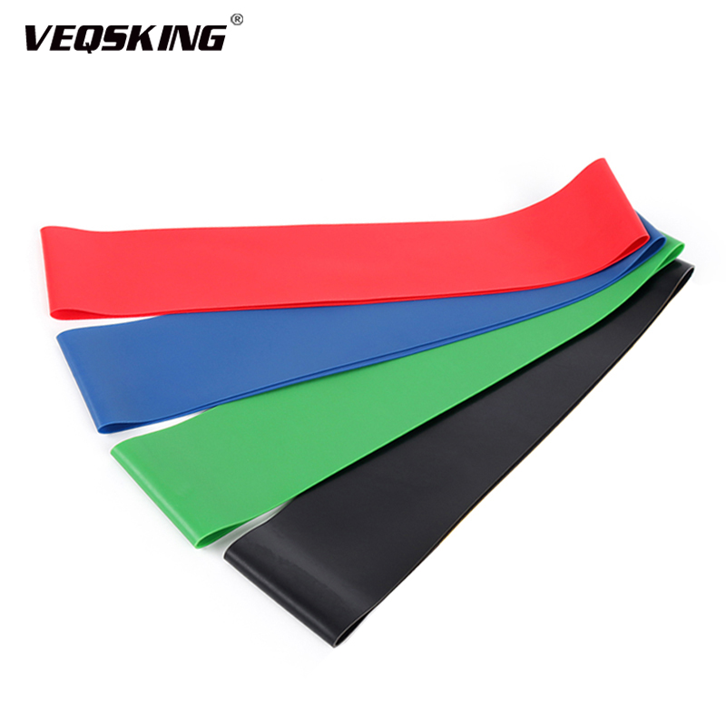 Elastic Tension Resistance Bands For Fitness 4 Levels Rubber Loops Bands, Yoga Bands, Strength Training Bands Fitness Equipment