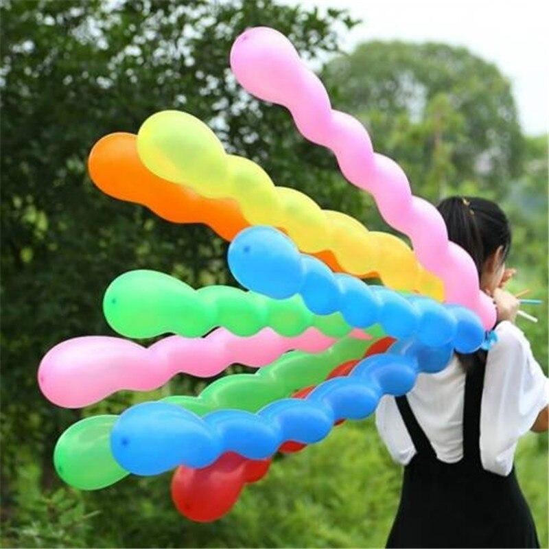 100pcs/lot Long Strip 36inch Screw Thread Latex Balloon Float Air Balls Inflatable Wedding Birthday Party Baloon Decoration Toys
