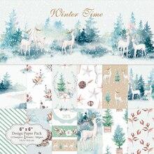 KLJUYP 12 листов зимнее время Скрапбукинг колодки бумага Оригами художественная бумага для фона карты изготовление DIY Скрапбукинг Бумага Ремесло