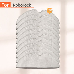 Image 1 - 10PCS Vacuum Cleaner home Cleaning Cloth Accessories for xiaomi mijia mi 1S 2S roborock s50 s55 s51 Robot Vacuum  Parts