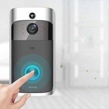 Беспроводной wifi видео дверной звонок двухсторонний аудио дверной звонок IR-CUT ночного видения PIR обнаружения движения домашняя охранная сигнализация
