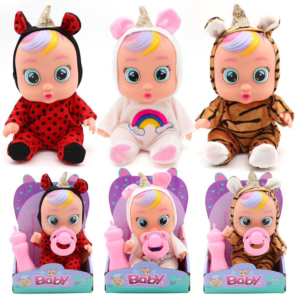 Original 3D Silicone Inteiro Realista Doll Beber Reborn Cry A Baby Magic Tears LOLS Surprise Dolls For kids girl Gift bath toys