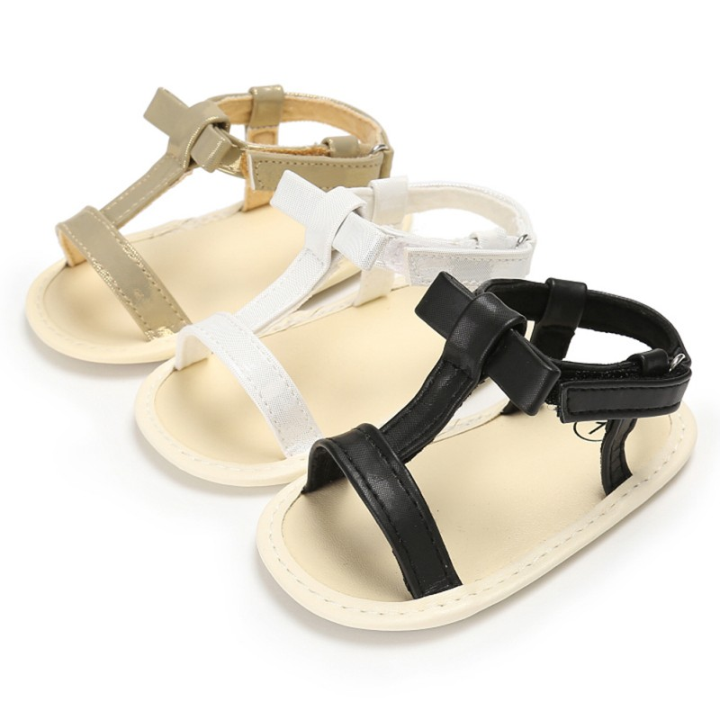 Baby Shoes PU Sandals For Girls Fashion Summer Baby Girl Sandals Cotton Cloth Newborn Baby Sandals Beach Shoes For Girls