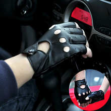 Fashion Female Locomotive Gloves Pu Leather For Women Fingerless Mittens Driving Punk Tactical