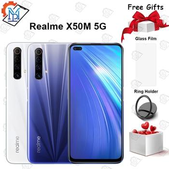Перейти на Алиэкспресс и купить Оригинальный смартфон Realme X50m Φ 6,57 дюймов 6G + 128G Snapdragon 76 телефон с восьмиядерным процессором Φ 30W Дротика зарядка NFC