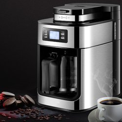 جهاز صنع قهوة كهربائي المنزلية التلقائي بالكامل بالتنقيط صانع القهوة 1200 مللي إبريق قهوة الشاي المنزل المطبخ الأجهزة 220 فولت